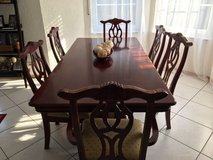 Cherry Wood Dining Room Set in Ramstein, Germany