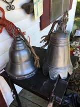 Large metal bell chimes 10.00 each 1left in Conroe, Texas