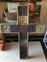 Tall metal outdoor cross 43x 32 1/2 in Conroe, Texas