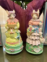 2 Easter Bunny Musical Figurines in Bolingbrook, Illinois