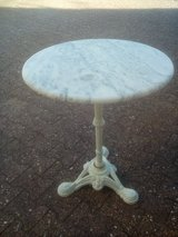 Vintage Pastry table  marble top & cast iron Base in Wiesbaden, GE