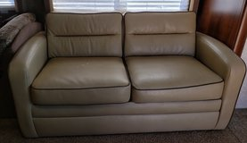 Tan RV Couch Bed in Alamogordo, New Mexico
