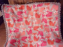 Fox Baby Fleece Blanket with Crocheted Edging in Belleville, Illinois