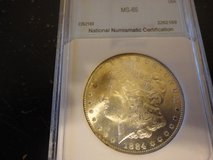1884 cc ms 65 morgan dollar in Fort Campbell, Kentucky