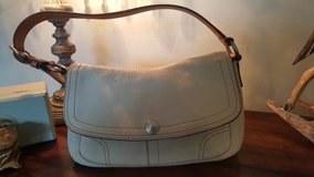 Authentic coach purse off white with tan straps in Chicago, Illinois