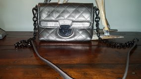Calvin Klein silver crossbody metal and leather straps in Bolingbrook, Illinois