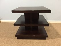 Dark Brown Square End Table in Chicago, Illinois