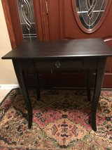 Cute Black Wood Accent Table in Chicago, Illinois