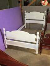 antique chalk painted maple twin bed in Cherry Point, North Carolina