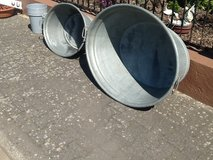 Two Vintage Galvanized Tubs in Ramstein, Germany