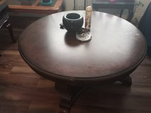Large sturdy wooden living room table in Fort Campbell, Kentucky