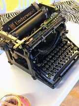 1920's Underwood type writer in Cherry Point, North Carolina