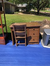 wicker desk and matching chair in Kingwood, Texas