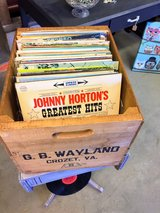 antique box full of old vinyl in Cherry Point, North Carolina