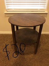 Round side table in Baytown, Texas