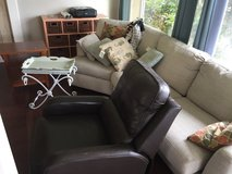 Couch, Leather Recliner, End tables, and Table with baskets in Camp Pendleton, California