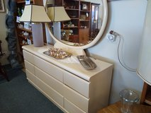 Laminate Ivory Dresser with Mirror in Aurora, Illinois
