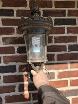 Four outside coach lights in Oswego, Illinois