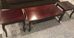 Table set center coffee table and two end tables in Camp Pendleton, California
