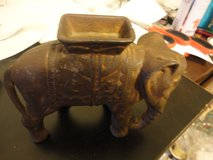 Elephant cast iron bank in Fort Campbell, Kentucky