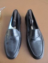 Bally Men's Black Leather Loafer Shoes, in Naperville, Illinois
