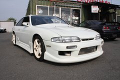 1994 NISSAN SILVIA K's (S14) (White) - Including LTO inspection & shipping in Okinawa, Japan
