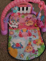 Fisher Price Kick and Play Piano Pink Gym tummy time mat in Warner Robins, Georgia