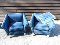 2 Blue Accent Chairs with Pillow in Aurora, Illinois