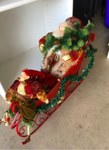 Santa with Elf and Sleigh in Chicago, Illinois