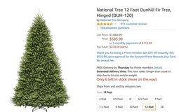 12 Foot Christmas Tree Brand New in Chicago, Illinois