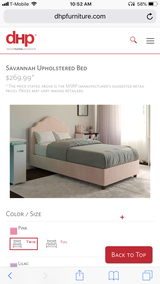 *New in box*Two twin size pink upholstered beds in Fort Rucker, Alabama