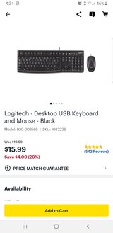 Logitech USB wired keyboard and mouse in Warner Robins, Georgia