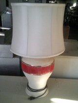 Lamps, white and red in Alamogordo, New Mexico