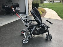 Double sit and stand stroller in Yorkville, Illinois