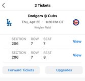 CUBS VS DODGERS 4/25 in Plainfield, Illinois