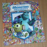 Disney Pixar Monsters University Look and Find Over Sized Hard Cover Book Grade 1st - 3rd in Chicago, Illinois