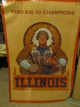 Vintage 1983 Chief Illiniwek Poster in Yorkville, Illinois