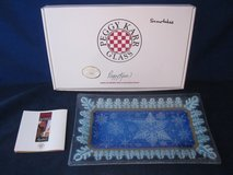 PEGGY KARR GLASS ART Snowflake Tray Plate in Naperville, Illinois