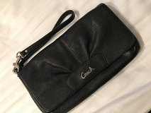 COACH Black Leather Wristlet in Ramstein, Germany