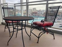 Patio set, chairs, table, outdoor furniture in Okinawa, Japan