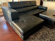 Modern Black Leather Sectional Couch Sofa in Okinawa, Japan