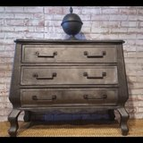 Industrial Finish Contemporary Bombe Chest in Oswego, Illinois