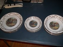 12 BASS PRO SHOP PLATES-BOWLS AND SAUCERS in Warner Robins, Georgia
