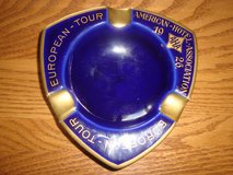 European Tour American Hotel Association AHA 1926 Cobalt Blue Gold Trim ASHTRAY in New Lenox, Illinois
