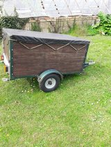 Camping trailer, unbraked, new rims and tyres, cover, lights, spare wheel in Lakenheath, UK