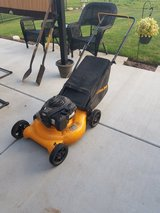 Lawn mower with bag in Plainfield, Illinois