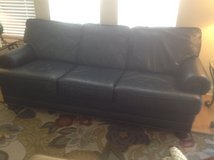Navy Leather Sofa in Bolingbrook, Illinois