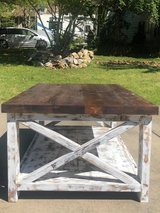 Handmade Rustic X Coffee Table in Fort Campbell, Kentucky