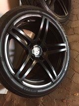 Porsche wheels and new tires with TPS in Ansbach, Germany