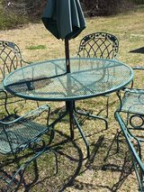 heavy vintage wrought iron patio set in Camp Lejeune, North Carolina